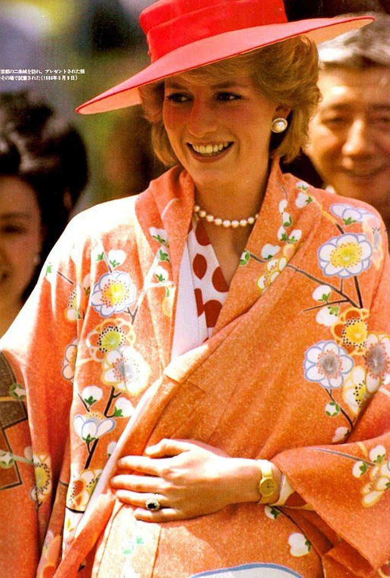 Lady Diana in Traditional Japan Kimono
